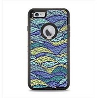 The Green and Blue Stain Glass Apple iPhone 6 Plus Otterbox Defender Case Skin Set