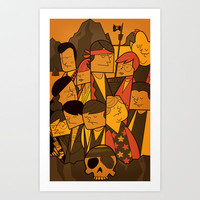 The Goonies (variant aspect ratio) Art Print by Ale Giorgini