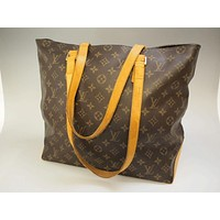 Tagre™ AUTHENTIC LOUIS VUITTON CABAS MEZZO TOTE SHOULDER BAG HANDBAG PURSE MONOGRAM