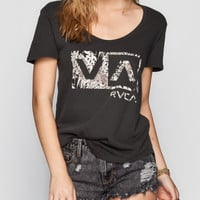 Rvca Animalistic Womens Tee Off-Black  In Sizes