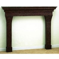 Iron & Tole Three Section Mantle Dr Livingstone I Presume Mantels & Surrounds Fireplac