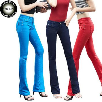 Mom's plus size flare jeans