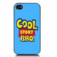 Cool story bro iPhone Case 4 & 4s blue turqoise by GoldPrinter
