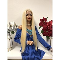 """Blond full lace wig 