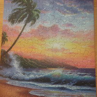 Small picture of paradise at sunset