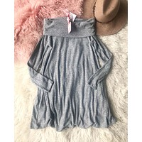 Cozy Thermal Dress in Gray