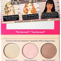 NEW The Balm The Manizer Sisters Luminizer Collection Palette NEW 3 in 1 Mary-Lou Betty-Lou Cindy-Lou MANIZER blusher