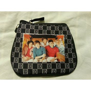 ID Holder Coin Purse One Direction Black Gray 1D