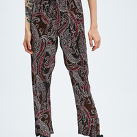 Urban Renewal Vintage Remnants Wide Leg Pattern Trousers - Urban Outfitters