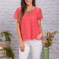 Classic Trend Top, Coral