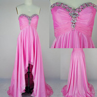 Glamorous Chiffon Asymmetric Prom Dresses/Homecoming Dresses from Cute Girl