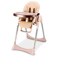 Foldable High Chair For Baby Portable Baby Highchairs for Feedding Adjustable Booster Seat For Dinner Table