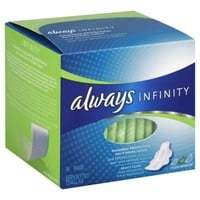 Always Infinity 16-Count Super Pads with Wings