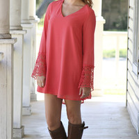 Irrep-Lace-able Dress - Coral
