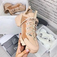 Dior CD Connect new lace-up increased ladies shoes thick-soled all-match casual sneakers