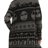 The Nightmare Before Christmas Black Grey Cardigan