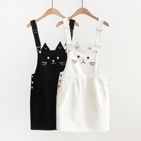 Kawaii Cat Ear Suspender Dress