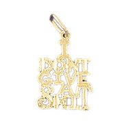 14K GOLD SAYING CHARM - I DONT  GIVE A SHIT #10636