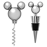 Mickey Mouse Icon Corkscrew and Bottle Stopper Set -- 2-Pc.