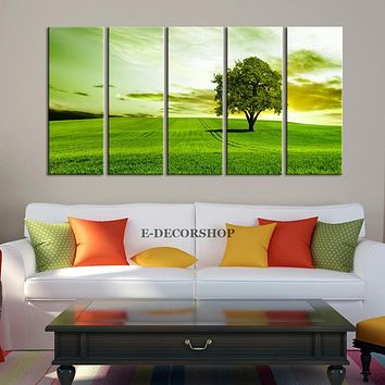 "Spring and Green Trees Canvas Print 60"" x 32"" Canvas Art Prints For Wall Green Trees Large Art"