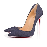 Christian Louboutin Cl So Kate Blue/latte Denim 18s Pumps 1180605u151 - Best Online Sale