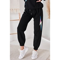 Shock To The Heart French Terry Joggers (Black)