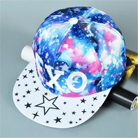 The influx of Korean men and women snapback Star Harajuku flat brimmed hat hip-hop fashion baseball hat