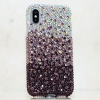AB Crystals Faded To Dark Purple Design (style 908)