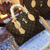 lv louis vuitton women leather shoulder bags satchel tote bag handbag shopping leather tote crossbody 131
