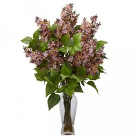 Lilac Silk Flower Arrangement (Pink)