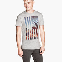 T-shirt with Printed Motif - from H&M