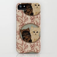 Vintage Cats iPhone Case by Charlottelangstroth   Society6