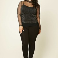 Plus Size Metallic Mesh Top | Forever 21 PLUS - 2000213991