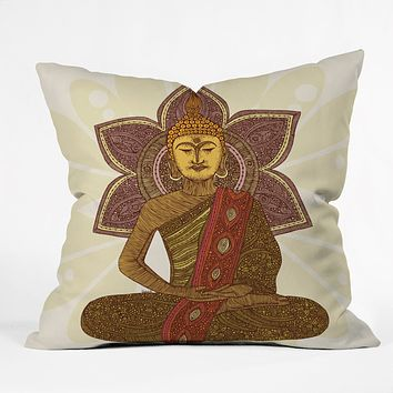 Valentina Ramos Sitting Buddha Throw Pillow