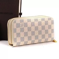 Hipgirls Louis Vuitton Wallet LV Bag Women Man Large-capacity More zipper Leather Wallet Purse White