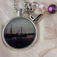 Purple Masts Photographic Pendant