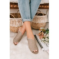Cross Roads Heeled Sandals (Taupe)