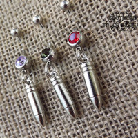 bullet belly button ring, ammo jewelry, silver bullet, country jewelry, country wedding, cowgirl jewelry, pistol , gun jewelry, pistol
