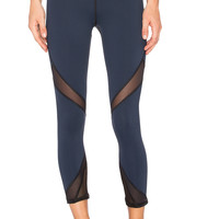 MICHI Radiate Crop Legging in Navy & Black