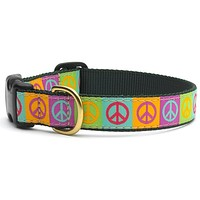 Peace Signs Dog Collar