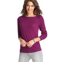 Petite Textural Stitched Sleeve Boatneck Sweater