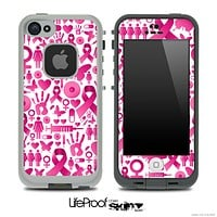 Breast Cancer Awareness Skin for the iPhone 5 or 4/4s LifeProof Case