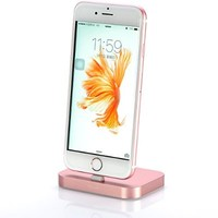 iPhone Dock, Stouch Aluminum Lightning Charging Dock for Apple iPhone 6 6S Plus 5 5S Retail Packaging (Rose Gold)