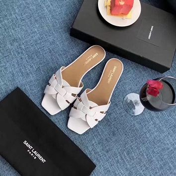 ysl women casual shoes boots fashionable casual leather women heels sandal shoes 89