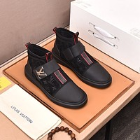 lv louis vuitton men fashion boots fashionable casual leather breathable sneakers running shoes 1220
