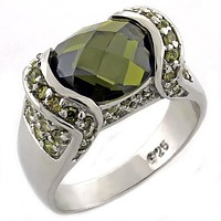 Sterling Silver Wedding Rings LOAS1016 - 925 Sterling Silver Ring & CZ