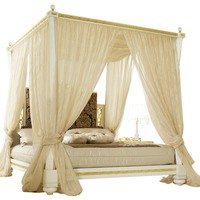 Canopy bed GOLD & DIAMOND Gold & Diamond Collection by Gotha Luxury Italian Style