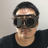 Steampunk Goggles Glasses Punk Gothic Welding Retro Cyber Vintage Cosplay Party Mask Adult Halloween Ball Costume Props