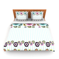 "Nina May ""Paisley Party"" Paisley Flower Lightweight Duvet Cover"