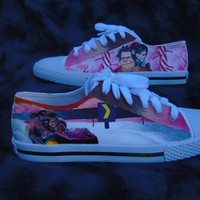 Wreck It Ralph Inspired Hand Painted Canvas Lace Up Shoes